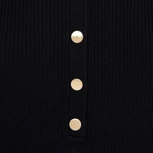 Zara Tops - Zara Ribbed Sweater with Buttons